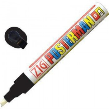 Zig Posterman Chalk Marker White Black 6mm