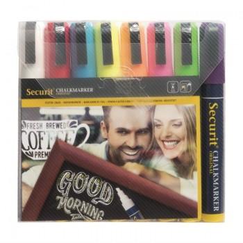 Securit set wisbare krijtstiften 6mm 8 stuks assorti