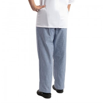 Whites Easyfit Trousers Teflon Blue Check XS