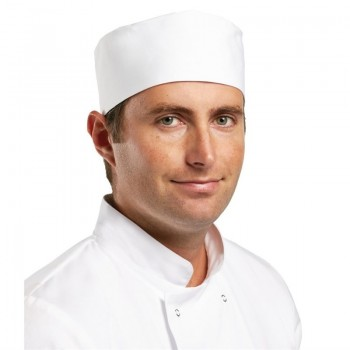 Whites Chefs Unisex Skull Cap Polycotton White - M