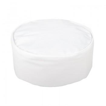 Whites Chefs Unisex Skull Cap Polycotton White - XL