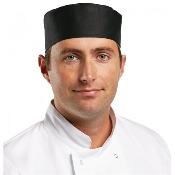Whites Chefs Skull Cap Polycotton Black - S