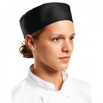 Whites Chefs Skull Cap Polycotton Black - XL