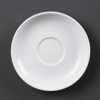 Olympia Whiteware Espresso Saucers