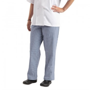 Whites Easyfit Trousers Teflon Blue Check XXL