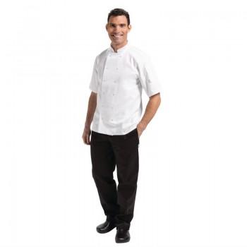 Whites Vegas Unisex Chef Jacket Short Sleeve White - XS