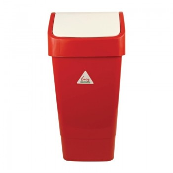 SYR Polypropylene Swing Bin Red 50Ltr