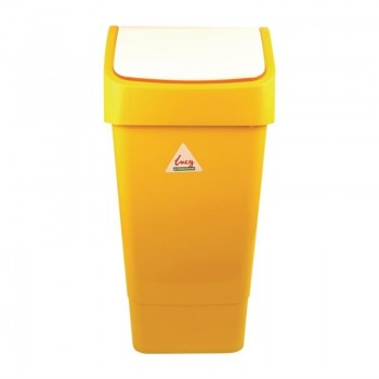 SYR Polypropylene Swing Bin Yellow 50Ltr