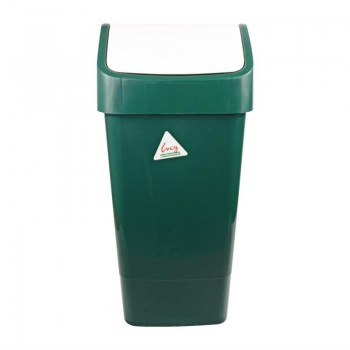 SYR Polypropylene Swing Bin Green 50Ltr