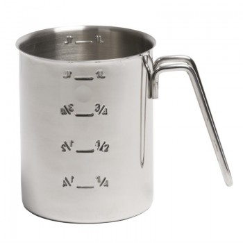 Graduated Stainless Steel Measuring Jug 1Ltr