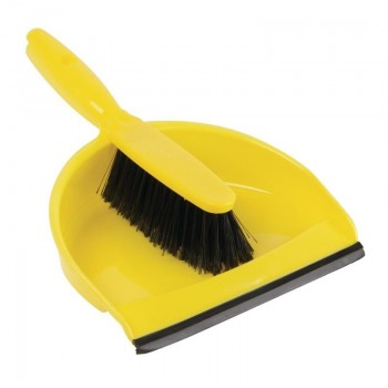 Jantex Soft Dustpan and Brush Set Yellow