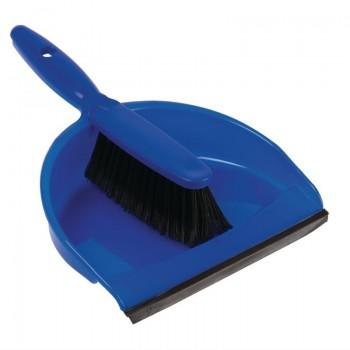 Jantex Soft Dustpan and Brush Set Blue