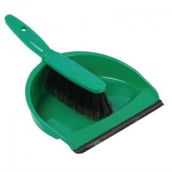 Jantex Soft Dustpan and Brush Set Green