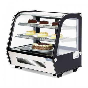 Polar Countertop Food Display Fridge 120Ltr Black