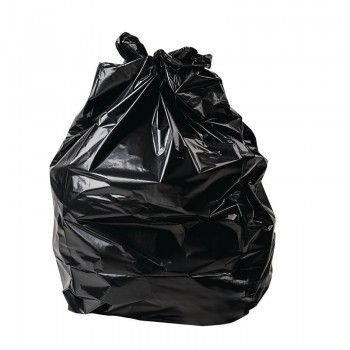 Jantex Large Extra Heavy Duty Black Bin Bags 120Ltr