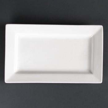 Lumina Wide Rim Rectangular Plates 257x 155mm