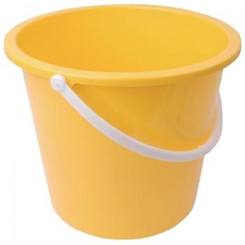 Jantex Round Plastic Bucket Yellow 10Ltr