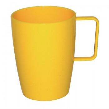 Kristallon Polycarbonate Handled Beakers Yellow 284ml