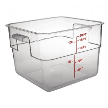 Vogue Polycarbonate Square Storage Container 10Ltr