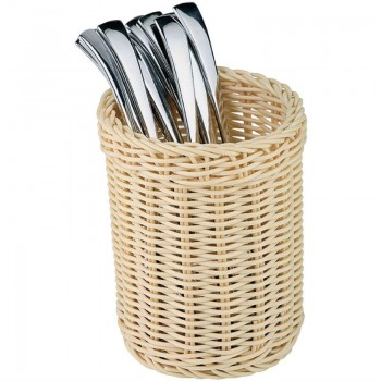 APS Polypropylene Round Rattan Basket