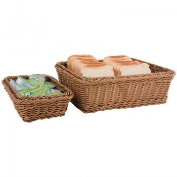 Polypropylene Brown Rattan Basket 1/2 GN