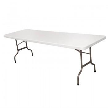 Bolero Centre Folding Table 8ft White