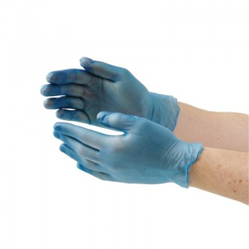 Vogue Powder Free Vinyl Gloves M