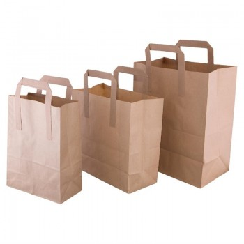 Fiesta Green Recycled Brown Paper Carrier Bags Large