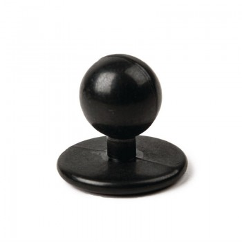 Whites Stud Buttons Black