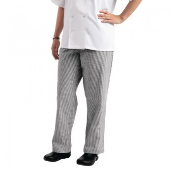 Whites Easyfit Trousers Teflon Black Check S