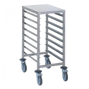 Tournus GN1/1 racking trolley 8 levels with worktop