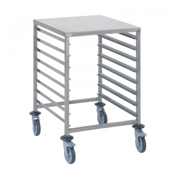 Tournus GN2/1 racking trolley 8 levels with worktop