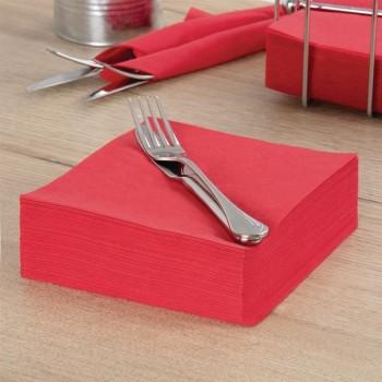 Fasana Professional Tissue Napkins Red 330mm