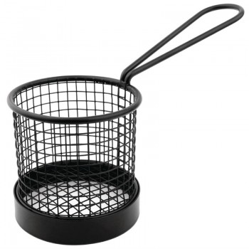Olympia Mini Fryer Basket Black with Handle