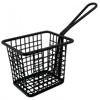 Olympia Mini Square Fryer Basket Black