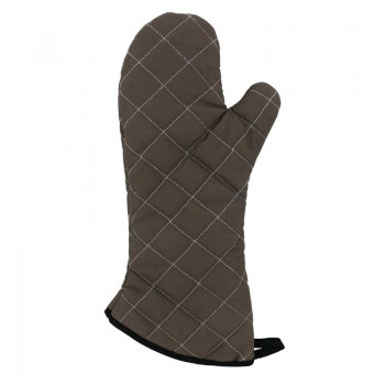 Vogue Flame Retardant Tan Oven Mitt 17''