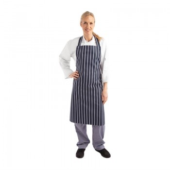 Whites Butchers Apron Stripe Blue