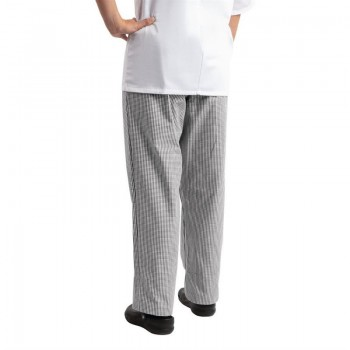 Whites Easyfit Trousers Teflon Black Check XL