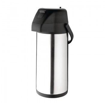 Olympia Stainless Steel Topped Pump Action Airpot 3Ltr