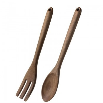 Olympia Wooden Salad Tong and Spoon Set