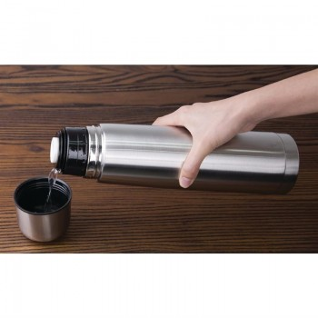 Olympia Vacuum Flask Stainless Steel 1Ltr