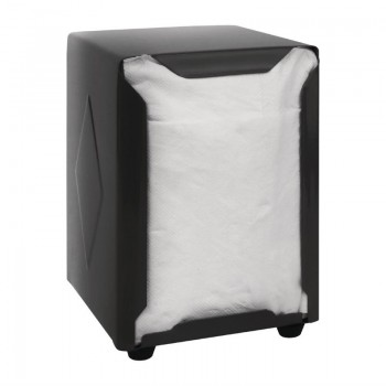 Olympia Stainless Steel Napkin Dispenser Black