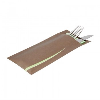 Europochette Bari Brown Cutlery Pouch with Napkin x 125