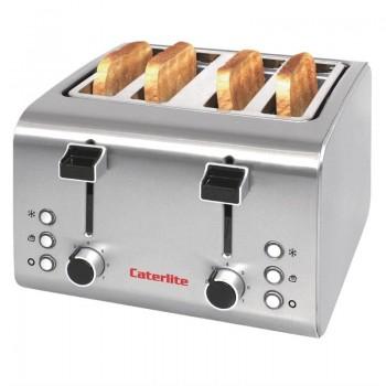 Caterlite 4 Slot Stainless Steel Toaster