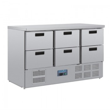 Polar Six Drawer Refrigerated Prep Counter