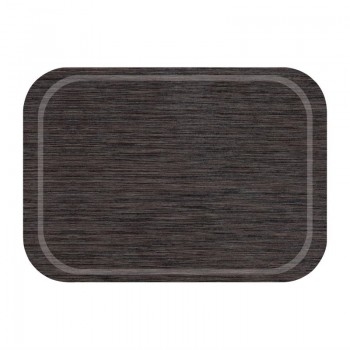 Roltex Melamine Fast Food Non-Slip Service Tray Wengé 375 x 265mm