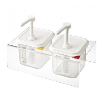 Araven Sauce Dispensers GN 1/6 Transparent 2.6Ltr Set of 2