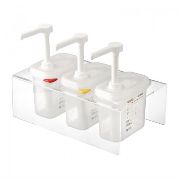 Araven Sauce Dispensers GN 1/9 Transparent 1.5Ltr Set of 3