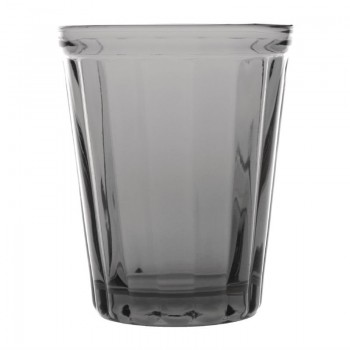 Olympia Cabot Panelled Glass Tumbler Smoke 260ml