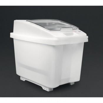 Araven Transparent Mobile Ingredient Bin 80Ltr